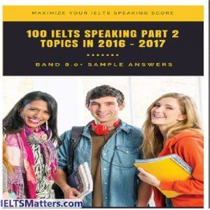 دانلود کتاب 100 IELTS Speaking Part2 Band 8 Sample Answer