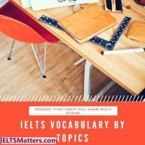 دانلود کتاب IELTS vocabulary by topics