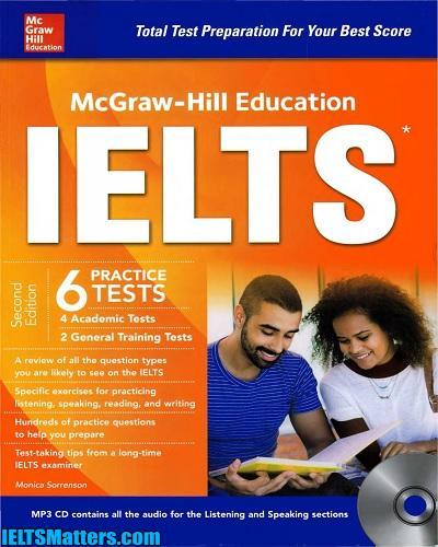 دانلود رایگان ویرایش دوم کتاب McGraw-Hill Education IELTS 6 Practice Tests