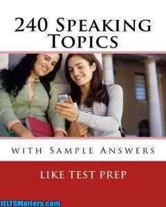 دانلود کتاب موضوعات اسپیکینگ به همراه نمونه جواب 240Speaking Topics With Sample Answers
