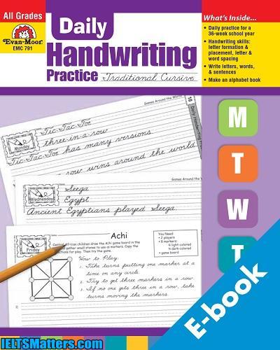 دانلود رایگان کتاب آموزش خوشنویسی زبان انگلیسی Daily Handwriting Practice