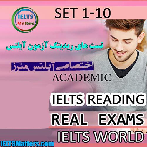 دانلود کتاب IELTS Reading Module Academic-Real Exams Readings-set 1-10