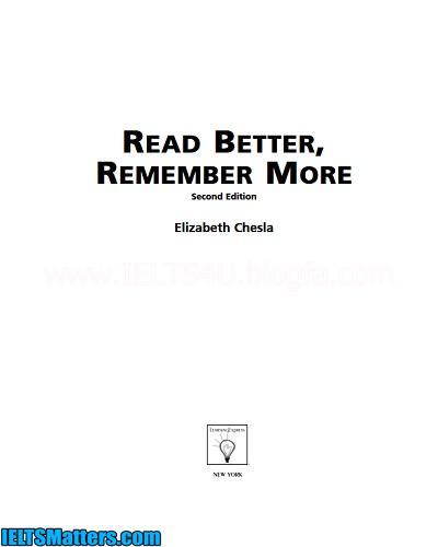 دانلود رایگان کتاب Read Better Remember More