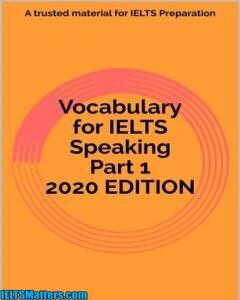 دانلود رایگان کتاب Vocabulary for IELTS Speaking Part 1 2020 EDITION