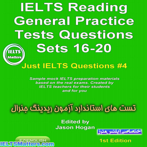 دانلود کتاب IELTS Reading-General Practice Tests Questions Sets 16-20
