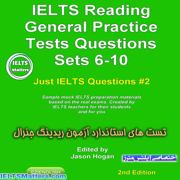دانلود کتاب IELTS Reading-General Practice Tests Questions Sets 6-10