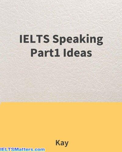دانلود رایگان کتاب IELTS Speaking Part 1 Ideas