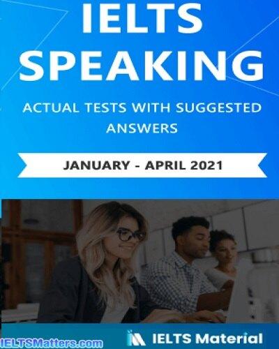 دانلود رایگان کتاب IELTS Speaking Actual January-April2021