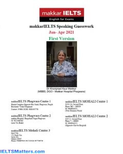 دانلود رایگان کتاب Makkar IELTS Speaking Guesswork Jan-April 2021