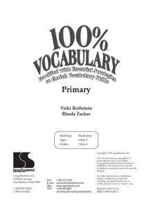 دانلود رایگان کتاب 100% Vocabulary - Primary