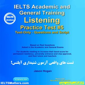 دانلود کتاب IELTS Academic and General Training Listening Practice Test #5