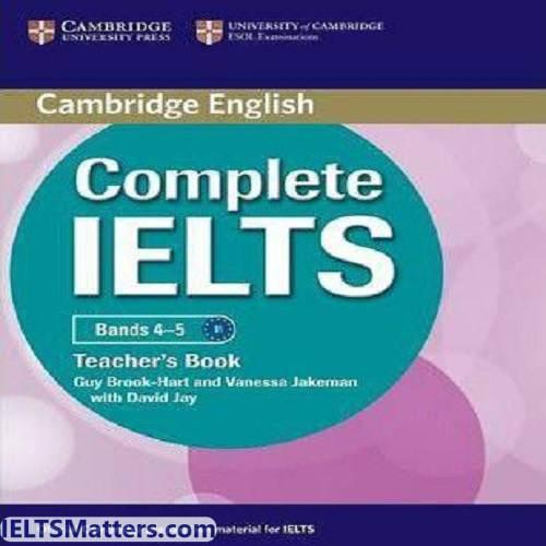 دانلود کتاب Complete IELTS-Teacher's book Bands 4-5